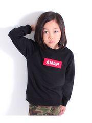 新品ANAPKIDS☆120 BOXロゴ トレーナー 黒 アナップキッズ