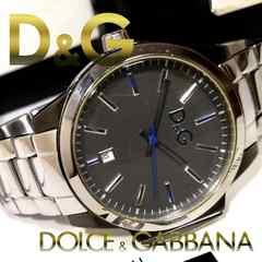 極美品【真贋証明・箱】1スタ★ドルガバ D&G 大型 メンズ腕時計