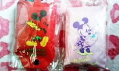Disney(ディズニ) ミッキー&ミニー カラビナ付 エコバック