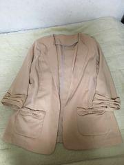 未使用イカ衿ジャケット春色テーラードジャケットピンクベージュ