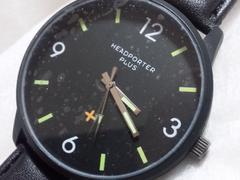 3772/PORTERポーター★ビックフェイス☆フルブラックコーティングモデルメンズ腕時計