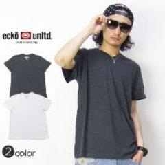 【ECKO UNITD/エコーアンリミテッド】ストリート.B系♪VネックTシャツグレー