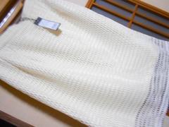 新品タグ付き5990円クリームホワイト鍵あみスカートM*クリックポスト164