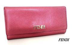 ■フェンディ FENDI 長財布 ピンク ラメ d763