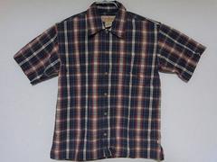 即決USA古着鮮やかチェックデザイン半袖シャツ!アメカジビンテージ