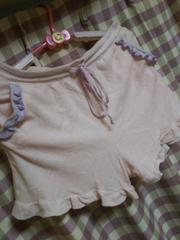 ★送料無料 ショート パンツ フリル 可愛い サイズL ピンク ヒップ100�p●