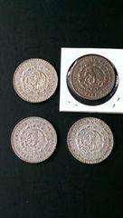 メキシコ英雄/大型1ペソ銀貨1958・59・60・63年(銀10%)