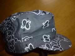 バンダナ帽子キャップUSAグレー新品ギャレット男女フリー綿