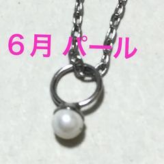 誕生石プチジュエリーネックレス【6月・シルバー】