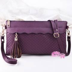 1円新品☆メッシュファスナー2Wayポーチ*お財布にもパープル紫レディース