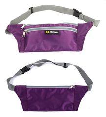 防滴 軽量 スマート ウエストポーチ ジョギング 軽量 紫