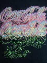 コカ・コーラ コカコーラ ブランド ロゴ ネオン デザイン ユニクロ Tシャツ ブラック XLサイズ