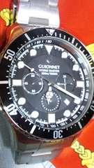 GUIONNET300m防水HYDROマスタークロノグラフダイバーウオッチ美品