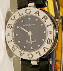 BVLGARIブルガリビーゼロワンBZ22Sレザーベルトレディース時計