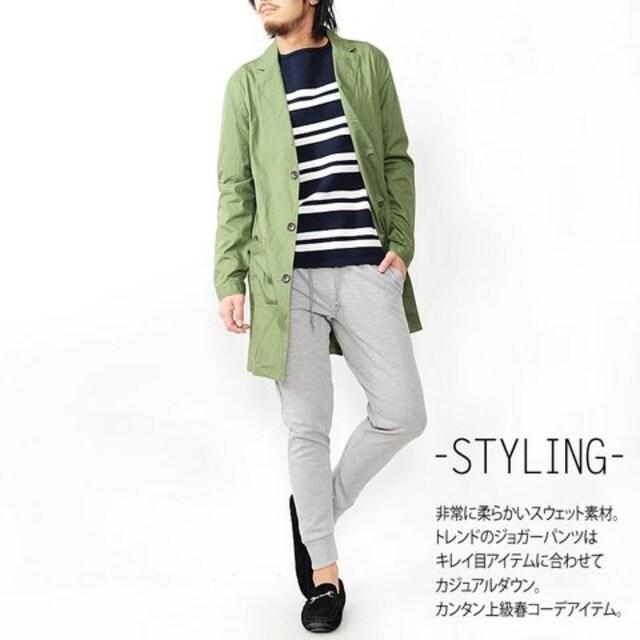RUBIKスウェットジョガーパンツ16621ワインXL < 男性ファッションの