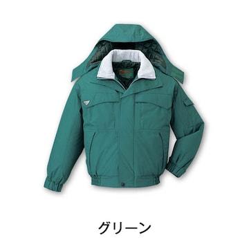 新品 【自重堂】エコ防水防寒ブルゾン グリーン  Lサイズ