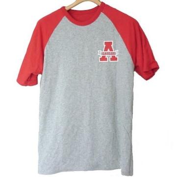 新品●AmericanEagle グレー×赤リバーシブルTシャツ(S)