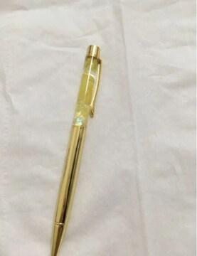 ハーバリウムペン 専門店購入 ゴールド×イエロー 新品
