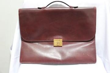Cartier☆カルティエ レザーブリーフケースバッグ ジャンク品 破れあり
