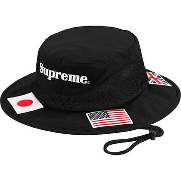 SUPREME FLAGS BOONIE BLACK M/L ハット ブーニー