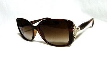 正規美 限定! BVLGARI ブルガリ ビジュー×クリスタル装飾サングラス茶 メガネ