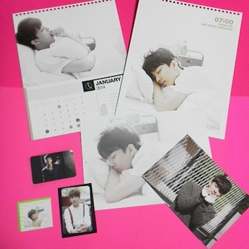 B.A.P-ヨンジェ★2014Season's Greetingsカレンダー・トレカなど公式7点直筆