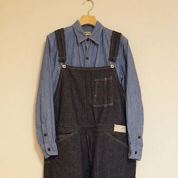 work on clothing factory BIB & BRACE OVERALLS オーバーオール