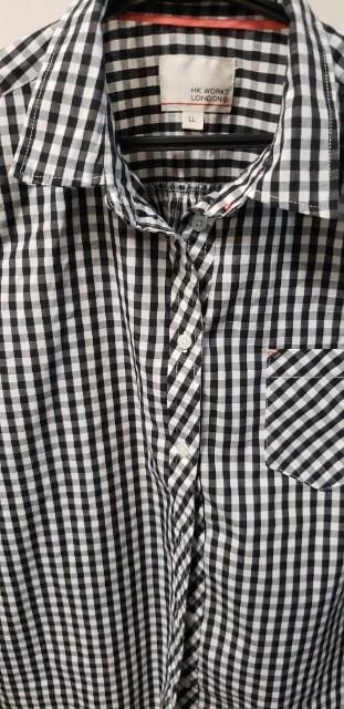 今年流行りのギンガムチェックシャツLL < 女性ファッションの