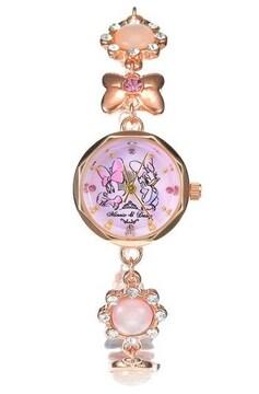 ミニー&デイジーの宝石腕時計ブレスレット☆ピンクゴールド