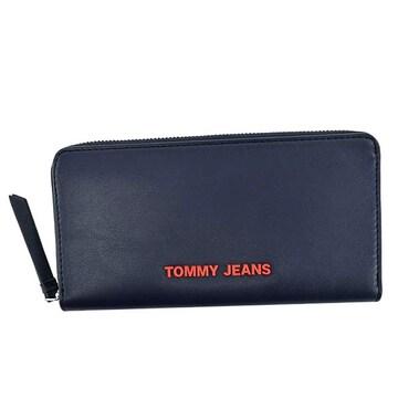 ◆新品本物◆トミージーンズ ラウンドファスナー長財布(NV)『AW0AW08596』◆