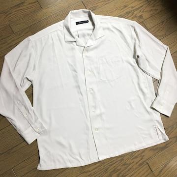 美品 RAGEBLUE 開襟シャツ ビックサイズ レイジブルー