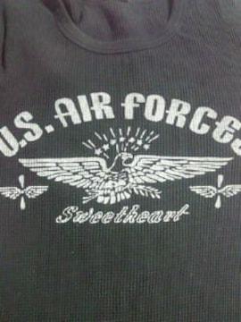 U.S. AIR FORCES ミリタリー デザイン 厚め Tシャツ ブラック Mサイズ イーグル