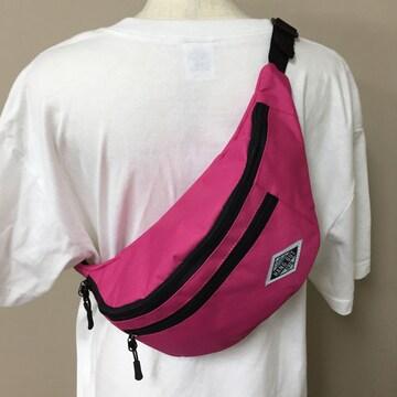 ウエストバッグ ボディバッグ メンズ レディース 新品 ピンク
