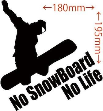 ステッカー No SnowBoard No Life (スノーボード)・4