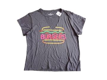 新品 定価1990円 アメリカンイーグル ロゴ Tシャツ L グレー