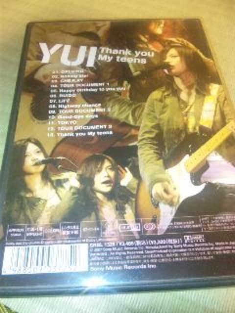 DVD:YUI/Thank you My teens < タレントグッズの