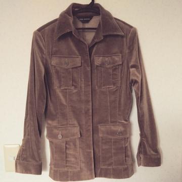 シャツジャケット◇茶スエード 9号 M◇中古美品