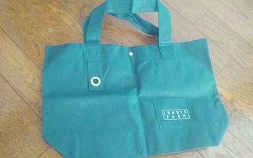 LOWRYS FARM ショップ袋 ネイビー1色 43.5×28.5×11 美品