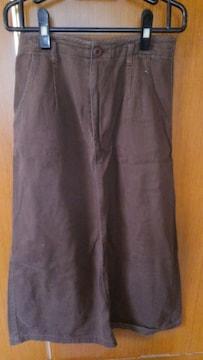 ★ 焦げ茶系のロングスカート