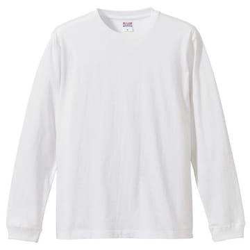 5.6オンス ロングスリーブTシャツ(1.6インチリブ) ホワイト M