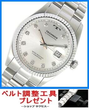 新品 即買い■テクノス 腕時計 T9604SS★ベルト調整工具付