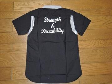 新品CALEEキャリーボーリングシャツS黒半袖刺繍ステッチ
