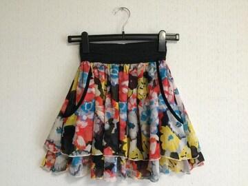 ◆訳あり◆花柄ミニスカート LOVE GIRLS MARKET