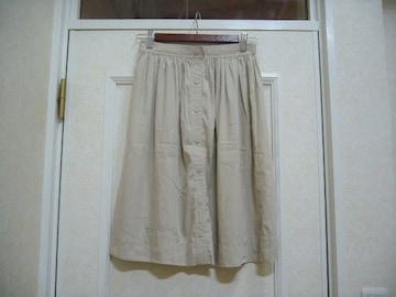 ZARA BASIC/前ボタン付ひざ丈スカート