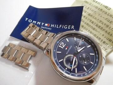 トミーヒルフィガー の腕時計メンズクォーツ式  動作確認済!。