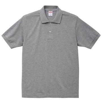 6.0オンスヘヴィーウェイトコットンポロシャツミックスグレー L