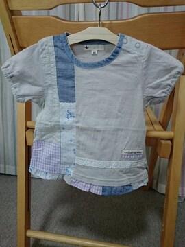 ◆即決★ラス1★新品 ★エスティークローゼット★パッチワークTシャツ★80�p