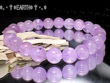 天然石★8ミリ薄紫ラベンダーアメジスト紫水晶数珠
