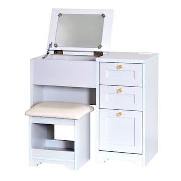 デスク ドレッサー(80cm幅) ホワイト AN70-80D_WH