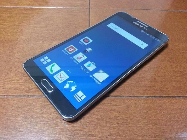 即落/即発!!美中古品 SC-01F Galaxy Note 3 ブラック  < 家電/AVの